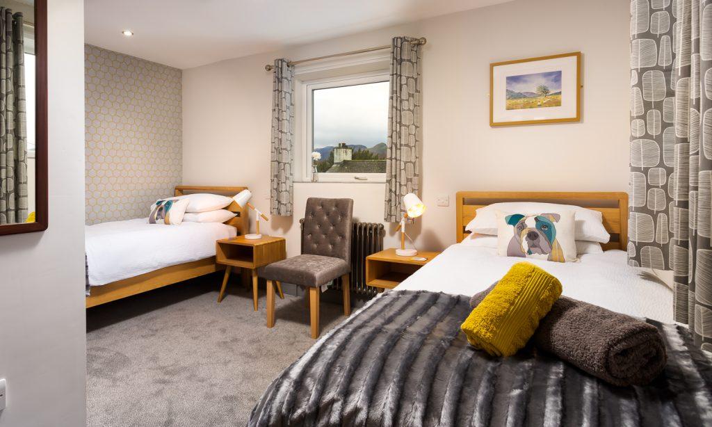 Twin Bedroom at Sunnybank Cottage, Keswick