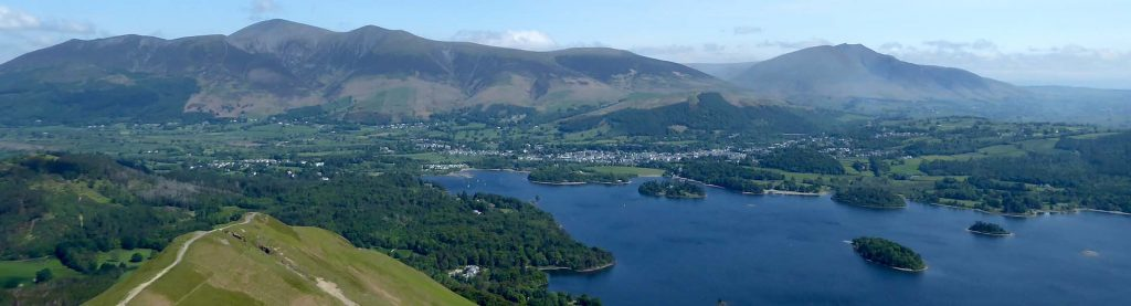 Ariel view of Derwentwater in the Lake District